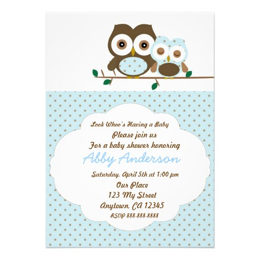 baby boy owl baby shower invitation 5 x 7 invitation card zazzle
