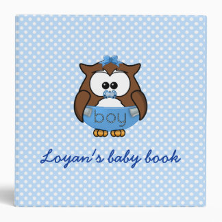 baby boy owl binder