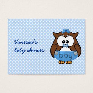 baby boy owl business card