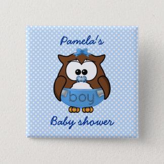 baby boy owl button