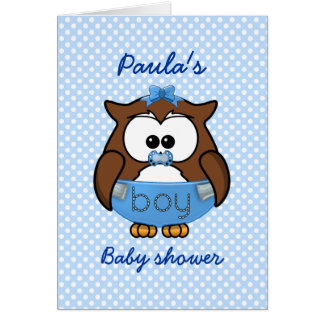 baby boy owl card