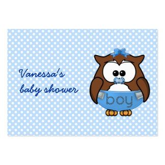 baby boy owl large business card