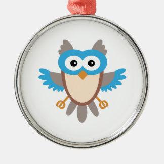 Baby Boy Owl Metal Ornament