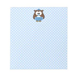 baby boy owl memo note pad
