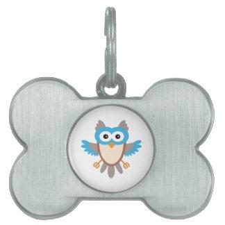 Baby Boy Owl Pet Tag