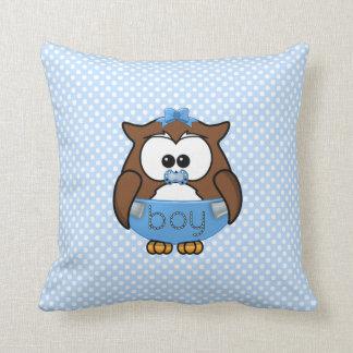baby boy owl throw pillows