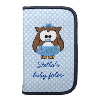 baby boy owl folio planner