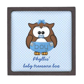 baby boy owl premium trinket boxes