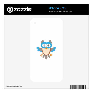 Baby Boy Owl Skins For iPhone 4S