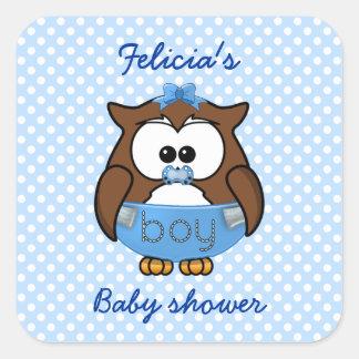 baby boy owl sticker