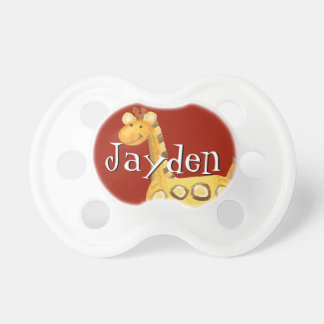 Baby Boy Pacifier - Little Jungle Animal Giraffe