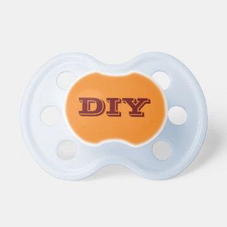 Baby Boy Pacifier: Orange Pacifier