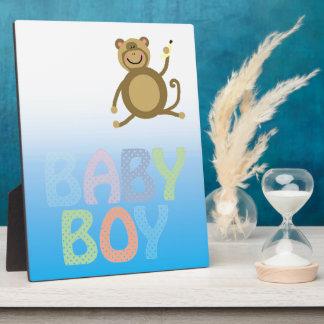 Baby Boy Pale Bluie Two Tone Plaque
