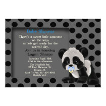 Baby Boy Panda Bear Baby Shower Invitation
