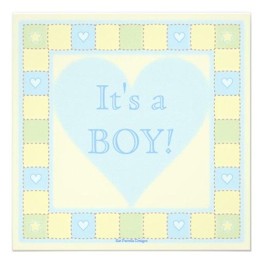 Baby Boy Shower Border Baby boy patchwork quilt baby