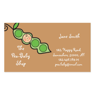 Baby Boy Pea in a Pod / Cute Cartoon Profile Card Business Cards