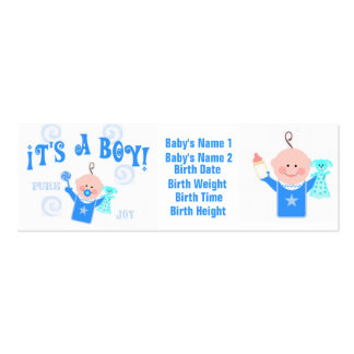 Baby Boy Personailzed Photo Announcement Card Business Card Templates