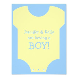 Baby Boy Personalized Invite