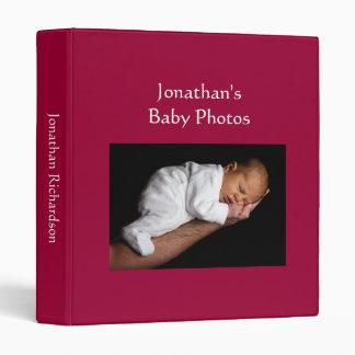 Baby Boy photo album dark red custom photo binder