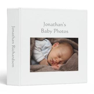 Baby Boy photo album white custom photo binder