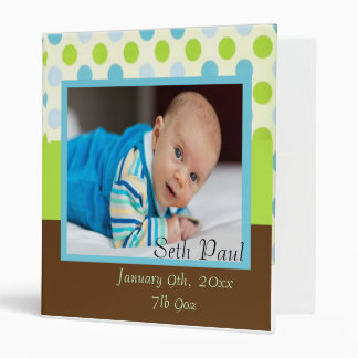 Baby Boy Photo Announcement Binders