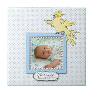 Baby Boy Photo Bird Birth Tile