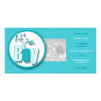 Baby boy photo cards birth announcements