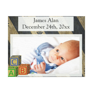 Baby Boy Photo Keepsake Canvas Print