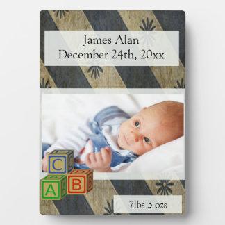 Baby Boy Photo Keepsake Plaque