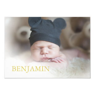 Baby Boy Photo Naming Ceremony Hebrew Jewish Invitation