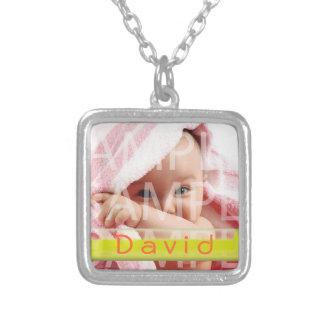 baby boy photo necklace with name custom jewelry