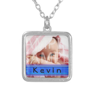 baby boy photo necklace with name necklace