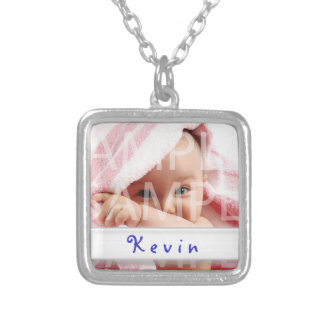 baby boy photo necklace with name pendants