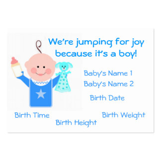 Baby Boy Photo Personailzed Announcement Card Business Card Template