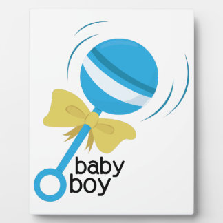 Baby Boy Photo Plaque
