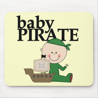 Baby Boy Pirate with Ship Tshirts and Gifts Mouse Pad