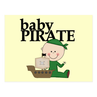 Baby Boy Pirate with Ship Tshirts and Gifts Postcard