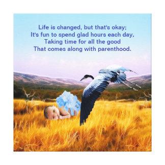 Baby Boy poem and parenthood Canvas Print