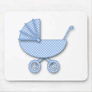 baby boy polka dot mouse pad