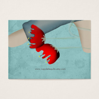 Baby boy poppies flowers business card