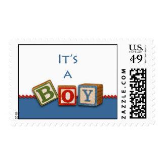 Baby Boy Postage Announcement