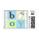 baby boy postage stamp