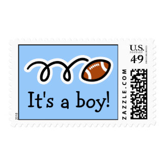 Baby boy postage stamps | Football design