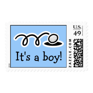 Baby boy postage stamps | Golf theme