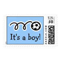 Baby boy postage stamps | soccer ball design