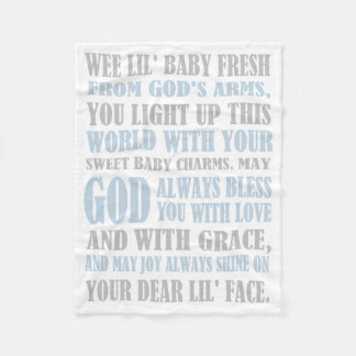 Baby Boy Prayer Fleece Blanket