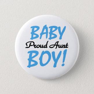 Baby Boy Proud Aunt Button