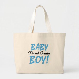 Baby Boy Proud Cousin Large Tote Bag