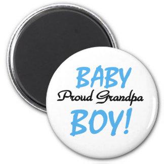 Baby Boy Proud Grandpa 2 Inch Round Magnet