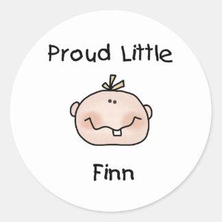 Baby Boy Proud Little Finn Classic Round Sticker